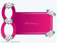 Crea cartoline personalizzate con testo per Festa della Donna 8 marzo