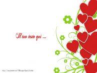 Crea cartoline personalizzate con testo d'amore Sfondo cuori
