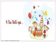 Crea cartoline personalizzate con testo per Bambini Sfondo Buon Compleano Bambini