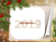 Crea cartoline personalizzate con testo di Buon Anno Cartoline di Buon Anno