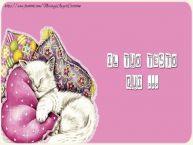 Crea cartoline personalizzate con testo di buonanotte Noapte buna - amore