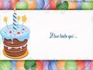 Crea cartoline personalizzate con testo di compleanno Compleanno