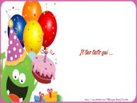 Crea cartoline personalizzate con testo di compleanno Cartoline di Compleanno