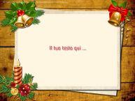 Crea cartoline personalizzate con testo di Natale Cartoline di Natale