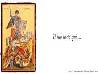 Crea cartoline personalizzate con testo di San Giorgio Cartoline di San Giorgio