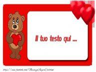 Crea cartoline personalizzate con testo di San Valentino Valentine