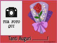 Crea cartoline personalizzate di auguri | Tanti Auguri ...! - Cornice foto