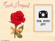 Crea cartoline personalizzate di auguri   Tanti Auguri! - Cornice foto
