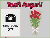 Crea cartoline personalizzate di auguri | Tanti Auguri! - Cornice foto