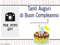 Crea cartoline personalizzate per Bambini | Tanti Auguri di Buon Compleanno ...! - Cornice foto