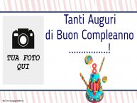 Crea cartoline personalizzate per Bambini | Tanti Auguri di Buon Compleanno ...! - Cornice foto ~ Torta 8 anni