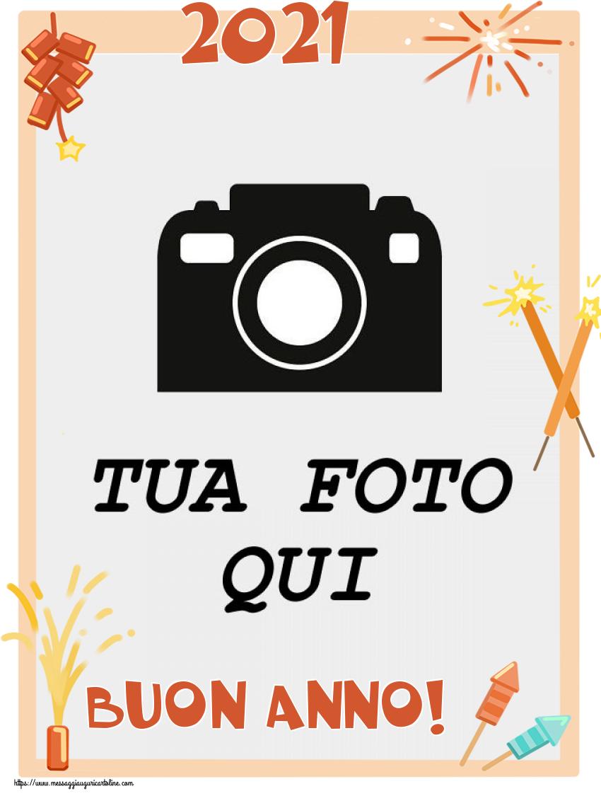 Crea cartoline personalizzate di Buon Anno | 2021 Buon Anno! - Cornice foto di Buon Anno