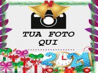 Crea cartoline personalizzate di Buon Anno   Buon Anno ...! - Cornice foto di Buon Anno