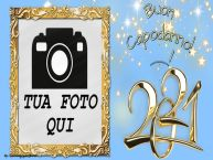 Crea cartoline personalizzate di Buon Anno   Buon Capodanno! ...! - Cornice foto di Buon Anno