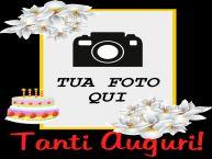 Crea cartoline personalizzate di compleanno | Tanti Auguri! - Cornice foto