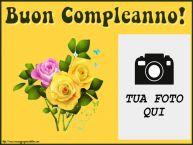 Crea cartoline personalizzate di compleanno   Buon Compleanno! - Cornice foto
