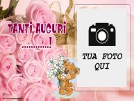 Crea cartoline personalizzate di compleanno   Tanti Auguri ...! - Cornice foto