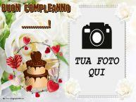 Crea cartoline personalizzate di compleanno   Buon Compleanno ...! - Cornice foto