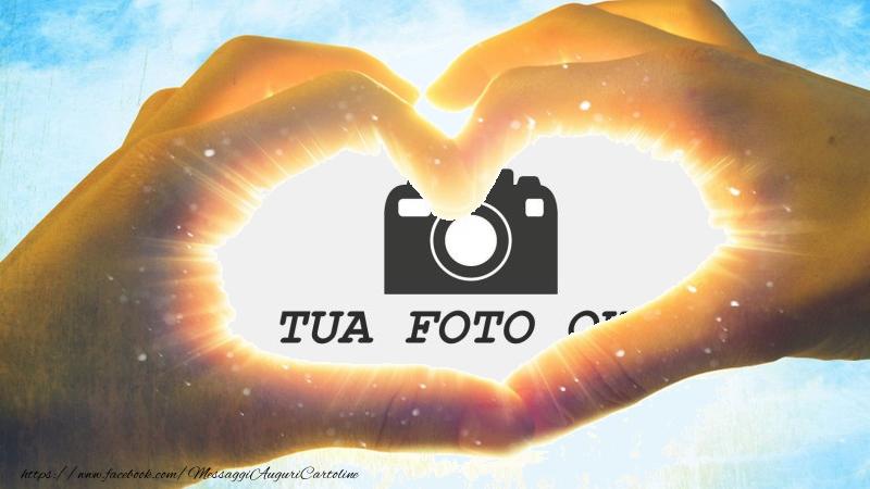 Crea cartoline personalizzate con foto | Cartolina personalizzata con cuore