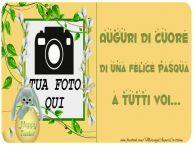 Crea cartoline personalizzate di Pasqua | Auguri di cuore di una felice Pasqua a tutti voi...