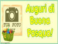 Crea cartoline personalizzate di Pasqua | Auguri di Buona Pasqua! - Cartolina personalizzate con la tua foto profilo facebook