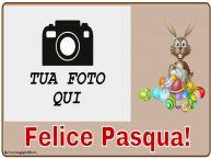 Crea cartoline personalizzate di Pasqua | Felice Pasqua! - Cornice foto