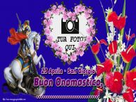 Crea cartoline personalizzate di San Giorgio | 23 Aprile - San Giorgio Buon Onomastico, ...! - Cornice foto
