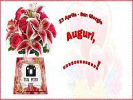 Crea cartoline personalizzate di San Giorgio | 23 Aprile - San Giorgio Auguri, ...! - Cartolina personalizzate con la tua foto profilo facebook