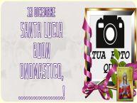 Crea cartoline personalizzate di Santa Lucia   13 dicembre Santa Lucia Buon Onomastico, ...!