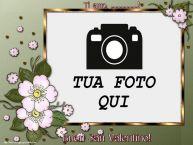 Crea cartoline personalizzate di San Valentino   Ti amo, ...! Buon San Valentino! - Cornice foto