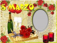 Crea cartoline personalizzate per Festa della Donna | Foto in cornice di 8 Marzo