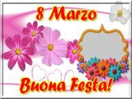 Crea cartoline personalizzate per Festa della Donna | 8 Marzo Buona Festa! - Cornice foto per la Festa delle Donne