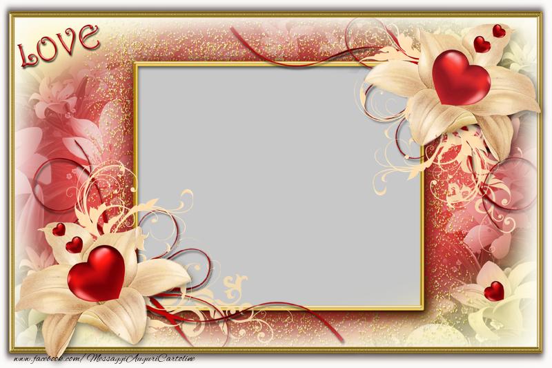 Crea cartoline personalizzate d'amore | Foto cuori
