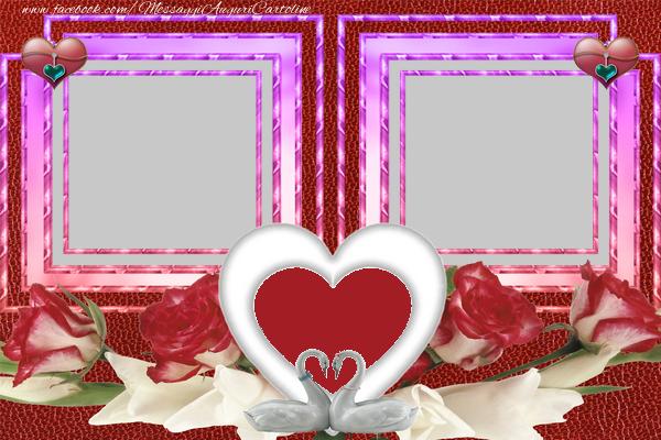Crea cartoline personalizzate d'amore   Due cuori