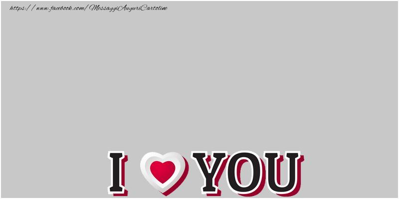 Crea cartoline personalizzate d'amore | I love you!