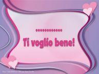 Crea cartoline personalizzate d'amore | ... Ti voglio bene!
