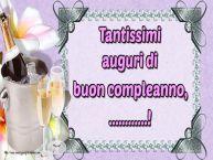 Crea cartoline personalizzate di auguri | Tantissimi auguri di buon compleanno, ...!