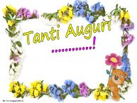 Crea cartoline personalizzate di auguri   Tanti Auguri ...!