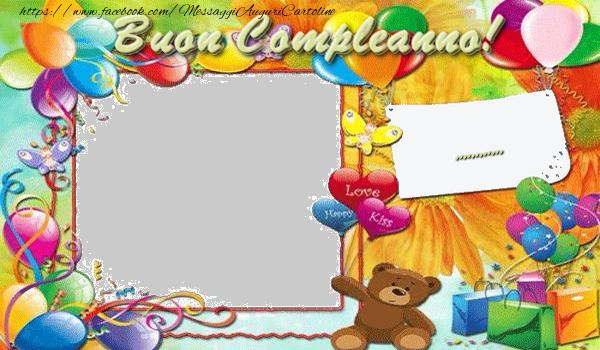 Crea cartoline personalizzate per Bambini | Buon Compleanno, ...!