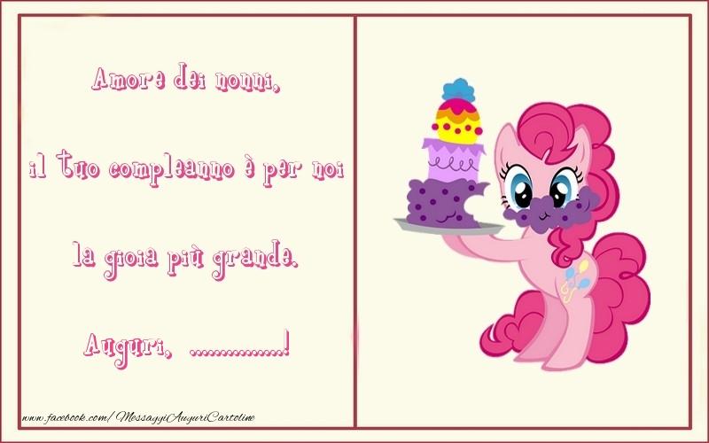 Crea cartoline personalizzate per Bambini | Amore dei nonni, il tuo compleanno è per noi la gioia più grande. ...