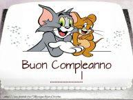 Crea cartoline personalizzate per Bambini | Torta Tom e Jerry: Buon Compleanno ...!