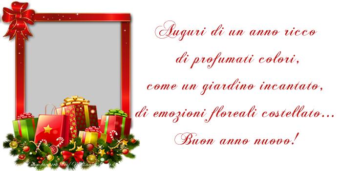 Crea cartoline personalizzate di Buon Anno   Felice anno nuovo!