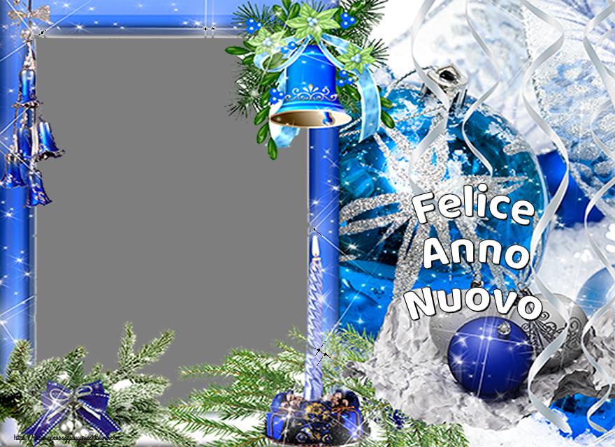 Crea cartoline personalizzate di Buon Anno   Felice Anno Nuovo - Cornice foto di Buon Anno