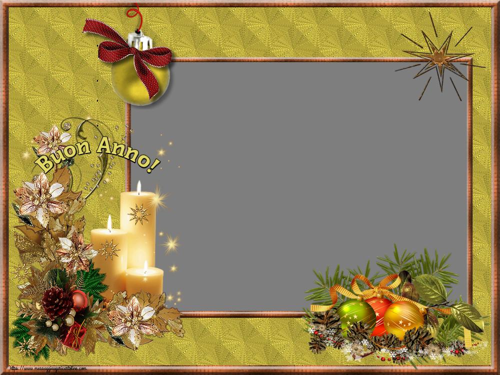 Crea cartoline personalizzate di Buon Anno   Buon Anno! - Cornice foto di Buon Anno