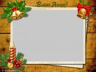 Crea cartoline personalizzate di Buon Anno | Buon Anno! - Cornice foto di Buon Anno
