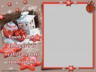 Crea cartoline personalizzate di Buon Anno | Buon Anno, ti auguro di realizzare tutti i tuoi sogni. - Cornice foto di Buon Anno