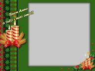 Crea cartoline personalizzate di Buon Anno | Buon Anno a tutti i miei amici! - Cornice foto di Buon Anno