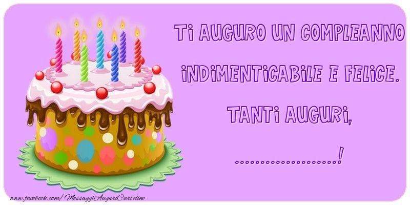 Un Buon Compleanno.Crea Cartoline Personalizzate Con Nome Compleanno Ti Auguro Un