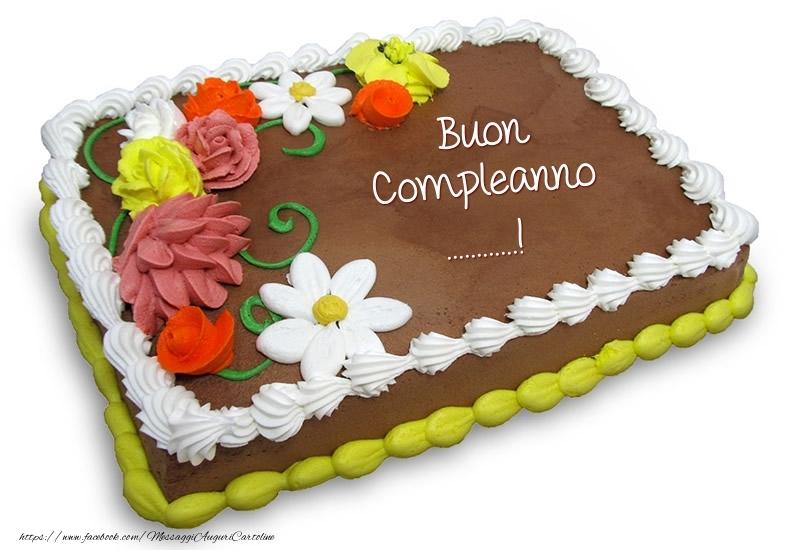 Crea cartoline personalizzate di compleanno | Torta al cioccolato: Buon Compleanno ...!