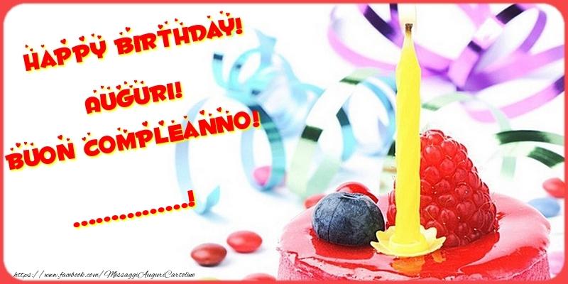 Crea cartoline personalizzate di compleanno | Happy birthday! Auguri! Buon Compleanno! ...